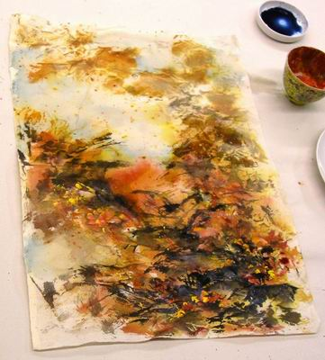 Complete abstract landscape painting