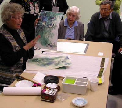Moira Mudie shows work using treated paper