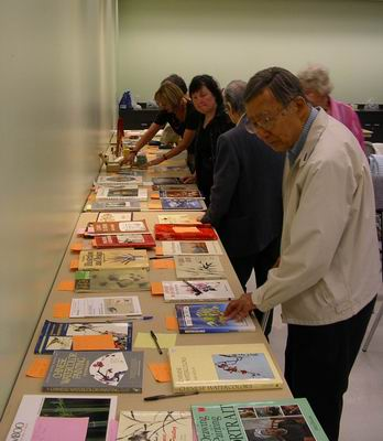 Silent auction of art books